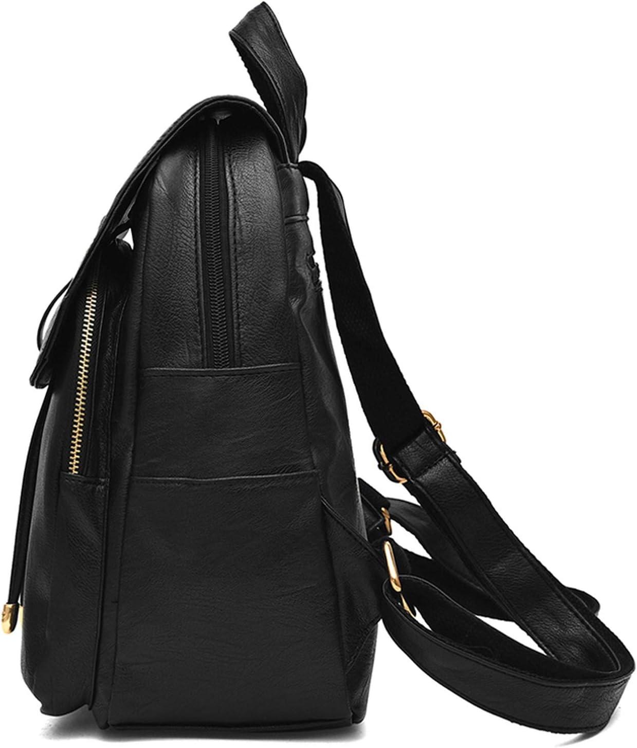 Zipper Tassel Large Capacity Women Backpack PU Leather Travel Shoulder Bag Purse Girl School Bag,Winered