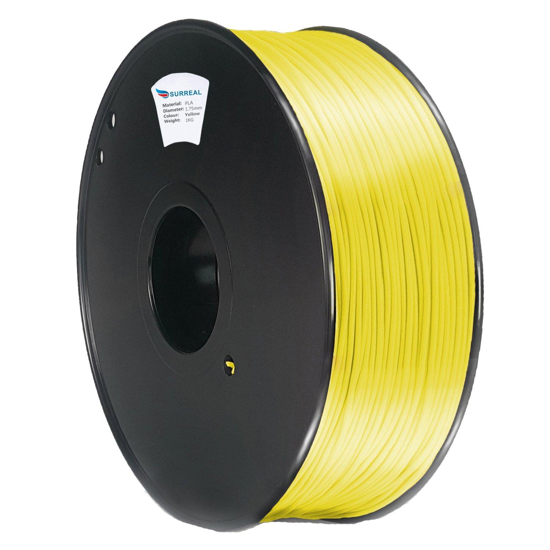 Surreal PLA filamento 1.75mm para impresoras 3D - 1KG carrete - Amarillo 3D-1.75mmPLA-1KG[YELLOW]