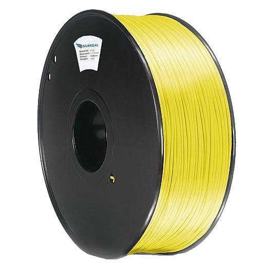 5 opinioni per Surreal ABS Filament 1.75mm- per stampanti 3D- bobina da 1KG- Giallo