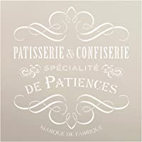 Vintage French Bakery Stencil by StudioR12 | Patisserie and Confiseri Word Art - Reusable Mylar Template | For Painting…