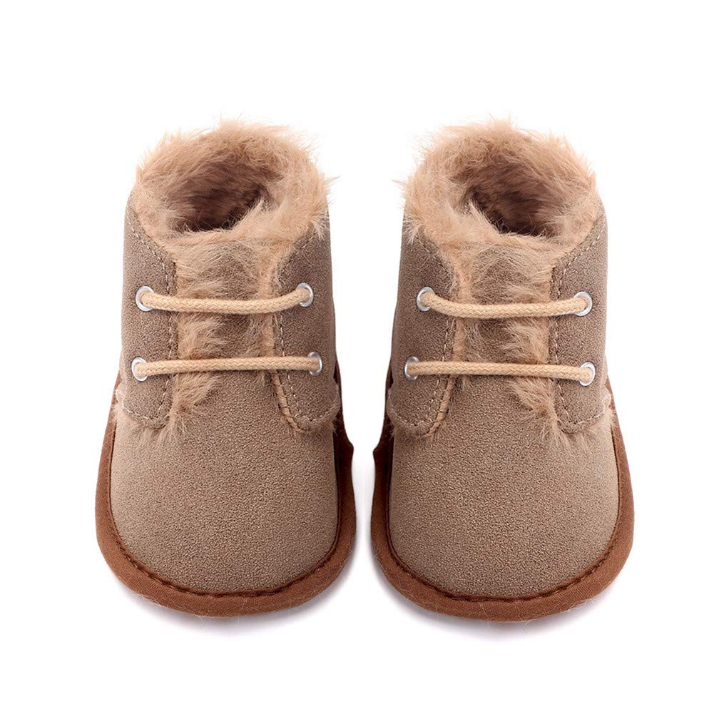 UWESPRING Unisex Baby Boots Warm Winter Soft Sole with Socks