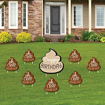 Amazoncom Oh Crap Youre Old Funny Yard Sign Outdoor Lawn
