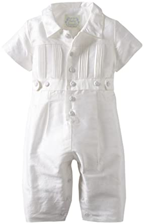 d3898bcee Amazon.com: Biscotti Baby Boys' Cherished Heirloom Boy Silk Romper ...