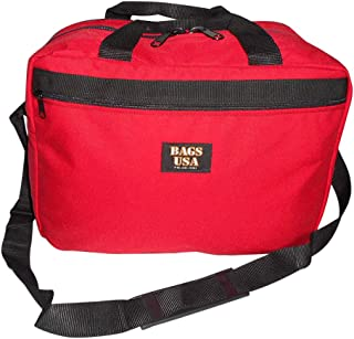 product image for Flight bag,Briefcase with double compartment,overnight bag, built to last,Made in USA. (Red)
