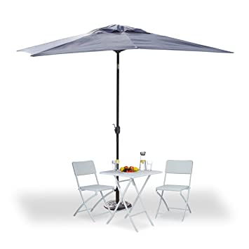 Amazon De Relaxdays Sonnenschirm Rechteckig 200x300cm Neigbarer