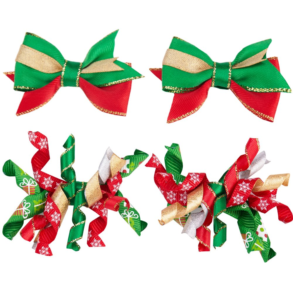 Blueberry Pet Holiday Festive Christmas Collections - 6 Patterns Sweaters or 2 Patterns Hair Clips Back Length 20 Pack of 1 Clothes for Dogs SW076GRXXL