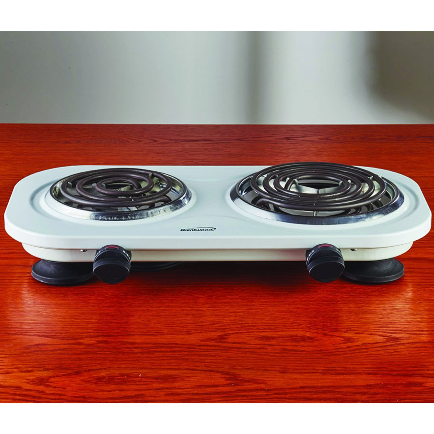 Brentwood TS-321W 1000w Single Electric Burner, White by Brentwood (Image #3)