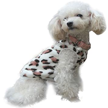 HuoGuo High Recommend 2 Colors Pet Cat Dog Villus Clothes Winter Leopard Pet Vest Clothing Ropa