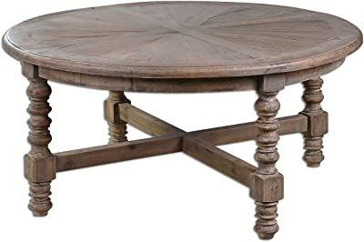 Uttermost 24345 Samuelle Wooden Coffee Table, Brown
