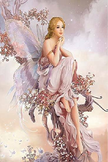 Full Drill 5D DIY Diamond Painting butterfly fairy Cross Stitch kit Home new.