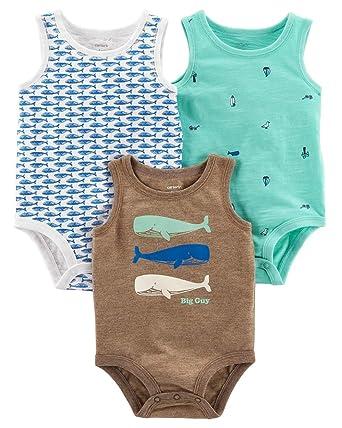 7e3565189a37 Amazon.com  Carter s Baby Boys  3-Pack Tank-Top Original Bodysuits ...