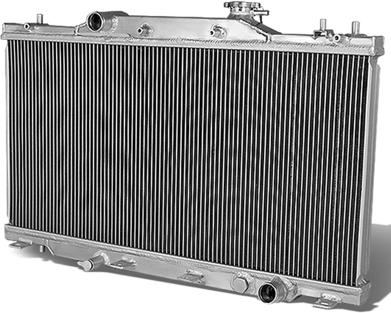 DNA Motoring RA-ARSX02-MT-2 2-Row Full Aluminum Radiator, 1 Pack,Metallic
