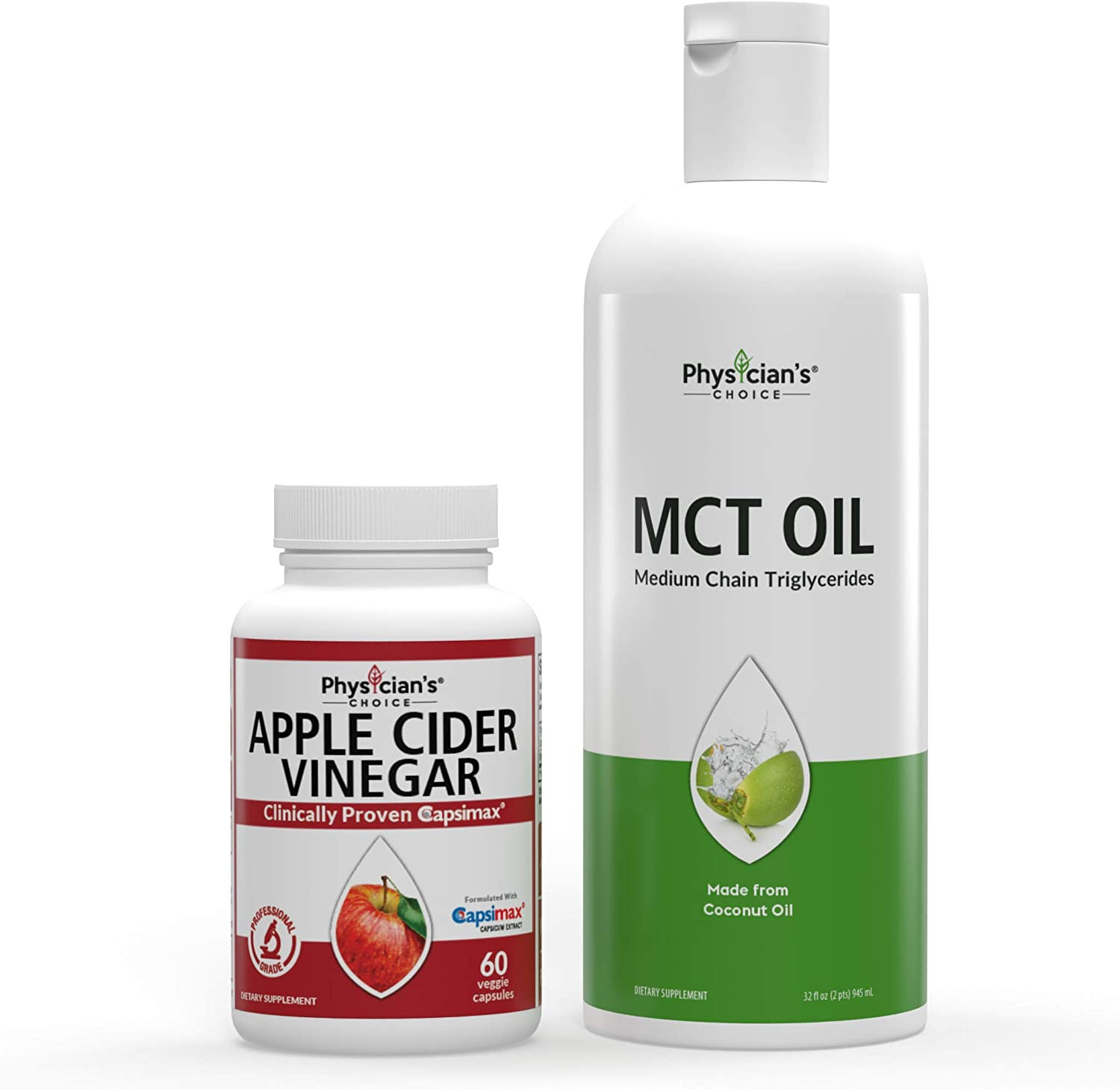 Apple Cider Vinegar Capsules for Weight Loss + Dr Approved MCT Oil Keto Friendly