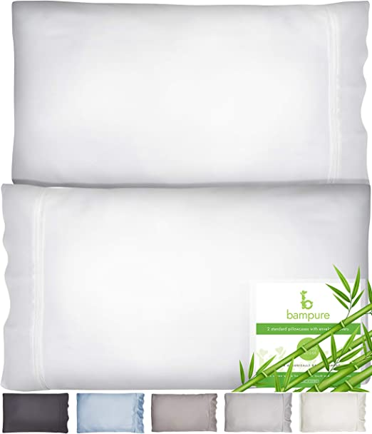 Amazon Com Bampure Bamboo Pillow Cases King Size Pillow Cases Set