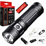 Klarus G20 3000 Lumens CREE Next Gen. XHP70 N4 LED USB Rechargeable Flashlight Dual-Switch Tactical Search Light with Battery,SKYBEN Car Charger and USB Light
