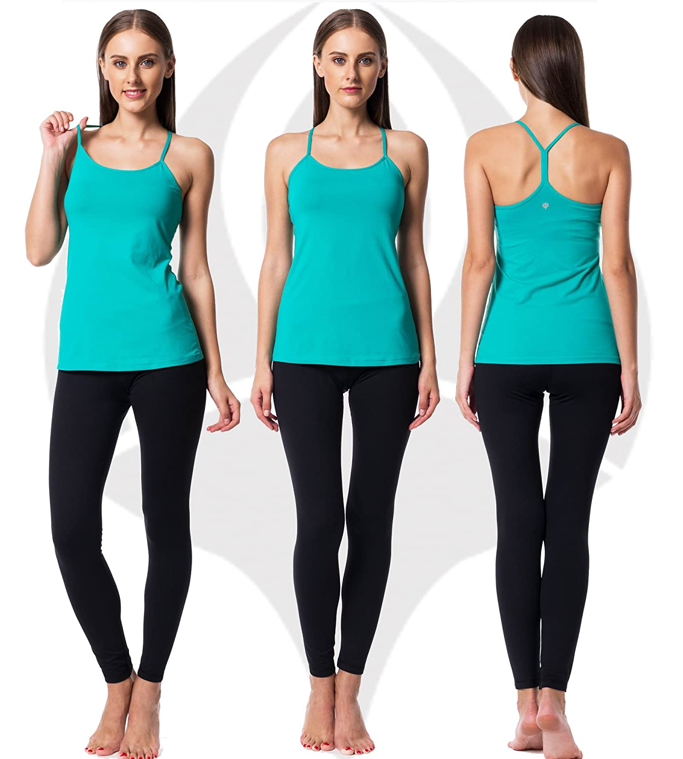 Guely Ray Women Active Workout Yoga Running Tanks Tops Y Racerback Dry Fit 1 2 Pack