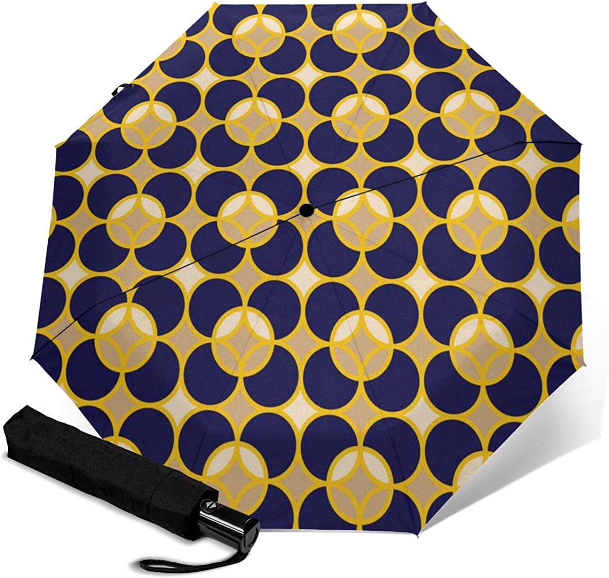 Modern Professional Geometric Seamless Compact Travel Umbrella Windproof Reinforced Canopy 8 Ribs Umbrella Auto Open And Close Button Personalized
