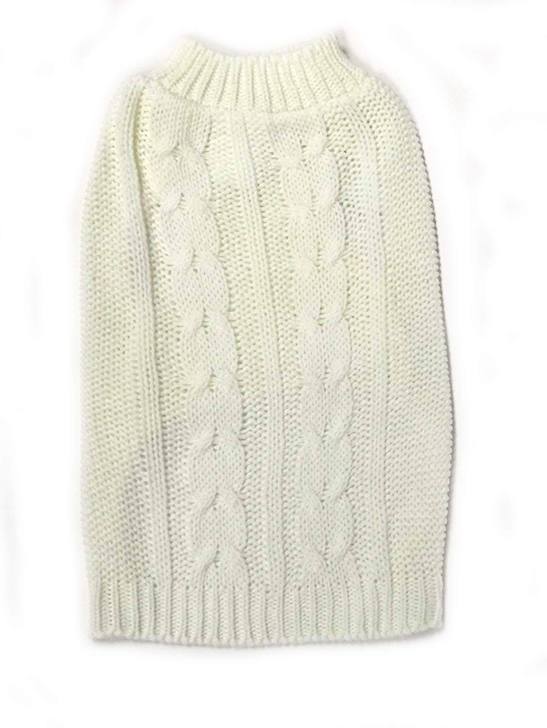 264aae6db14f1e Amazon.com   Midlee Cable Knit Dog Sweater (X-Small
