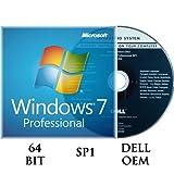 Windows 7 Professiomal 64 bit OEM incl.SP1 DVD + Activation key DELL branded