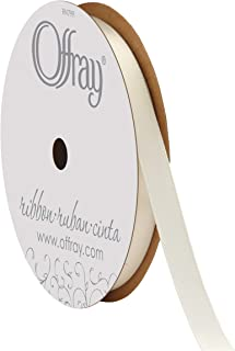 """product image for Offray Berwick 3/8"""" Single Face Satin Ribbon, Antique White Ivory, 20 Yds"""