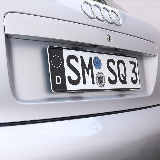 Nummerschild 2 Aufkleber Eu Zeichen Schwarz TÜv Aufkleber Plakette Ersatz Sticker Tuning Auto Aufkleber Auto