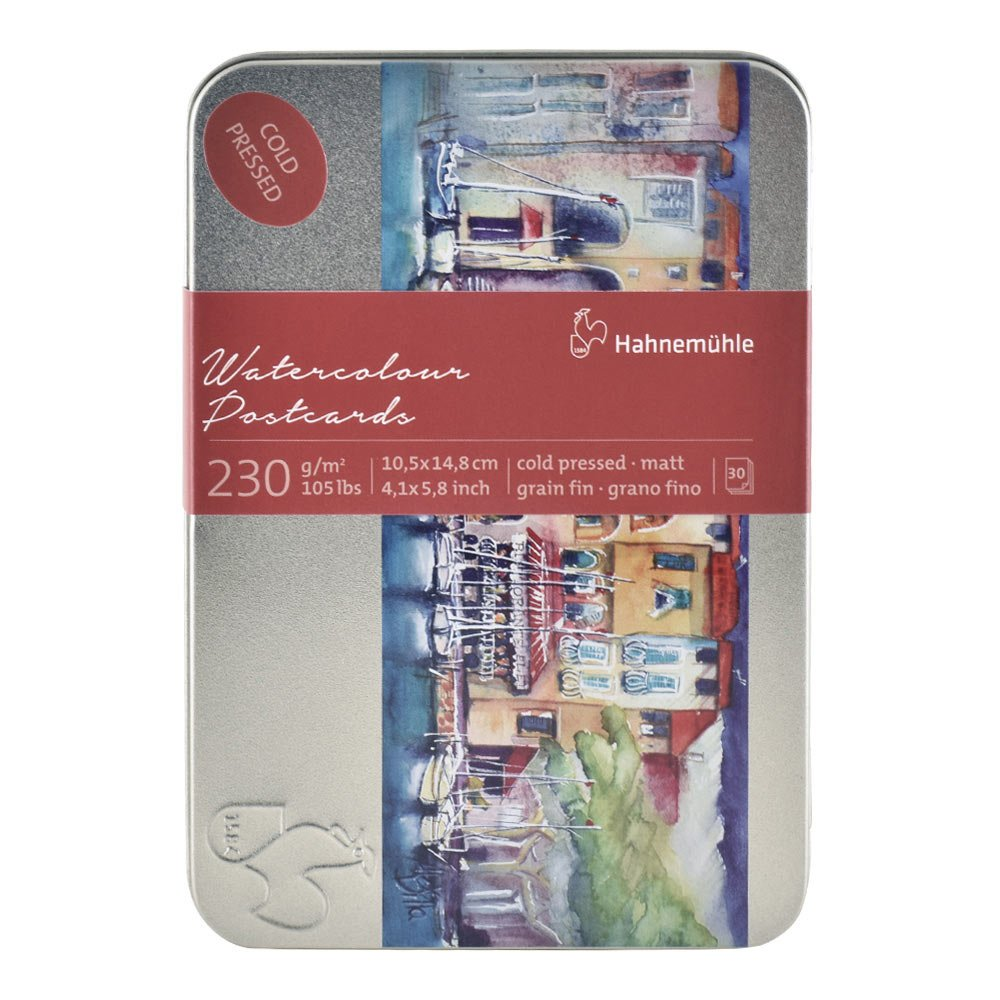 Hahnemuhle Watercolor Cards 230gsm Cold Pressed 4x5.75 Inches, 1 Set of 30 Cards Hahnemuhle Fineart Gmbh