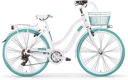 Bicicleta MBM VINTAGE para mujer, mujer, azul turquesa: Amazon.es: Deportes y aire libre