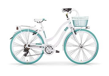 MBM Bicicleta VINTAGE para mujer, mujer, azul turquesa: Amazon.es ...