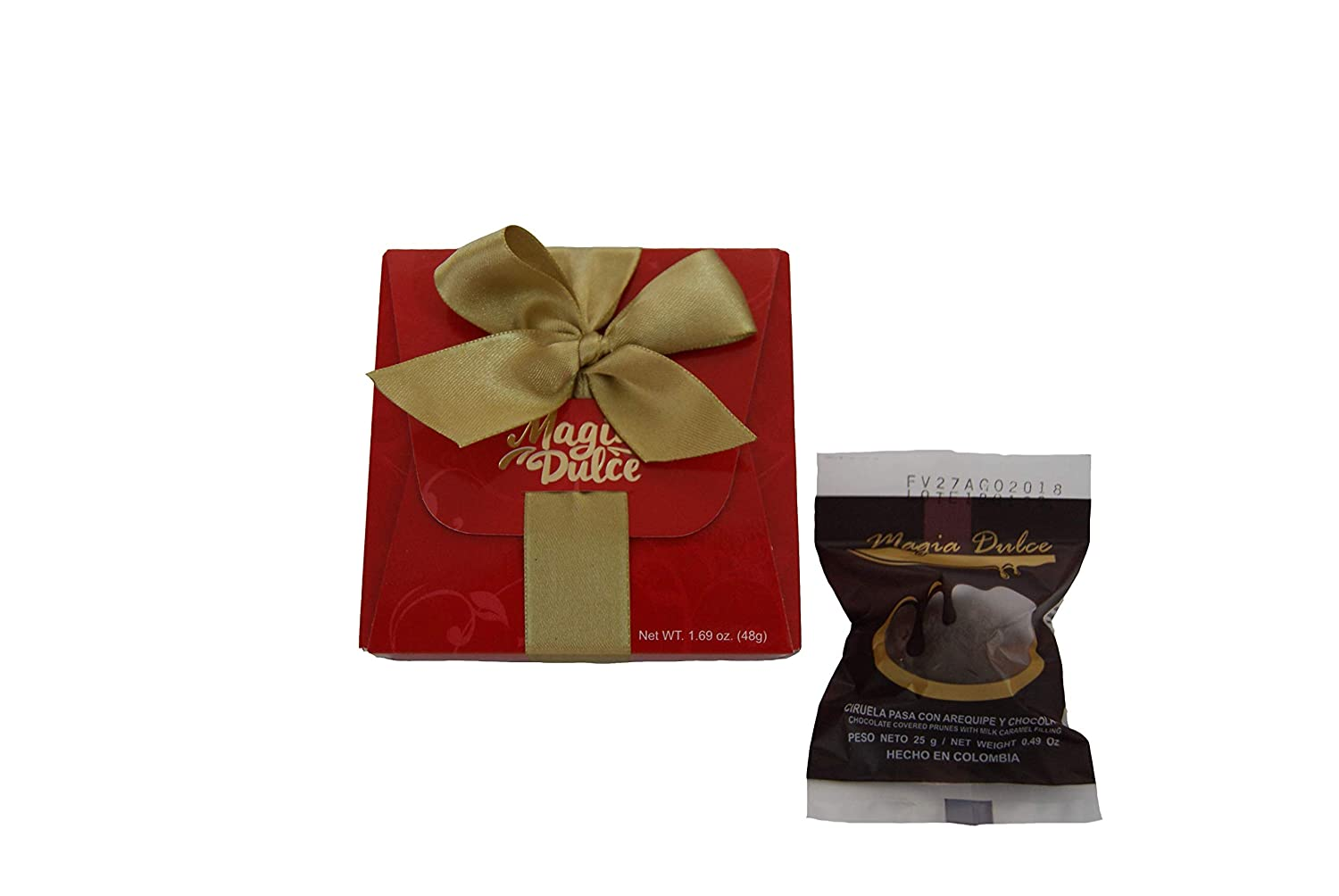Amazon.com : Magia Dulce Luxury Chocolate Gift Box for Valentines day Covered Prunes with Milk Caramel filling Artisan product with fruit from Colombia (Box ...