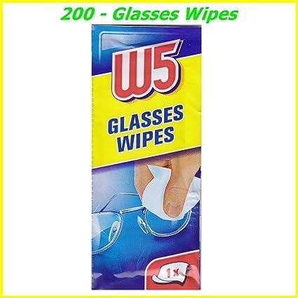 200 toallitas de limpieza ideal para limpiar gafas, cámaras, prismáticos, coche espejos,