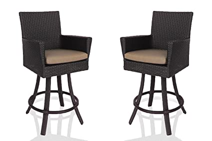 Amazon Com Dola Outdoor Swivel Bar Stools Set Of 2 30 Inches