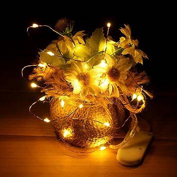 2 Set Copper Wire Warm White Starry String Light LED Nightlight ...