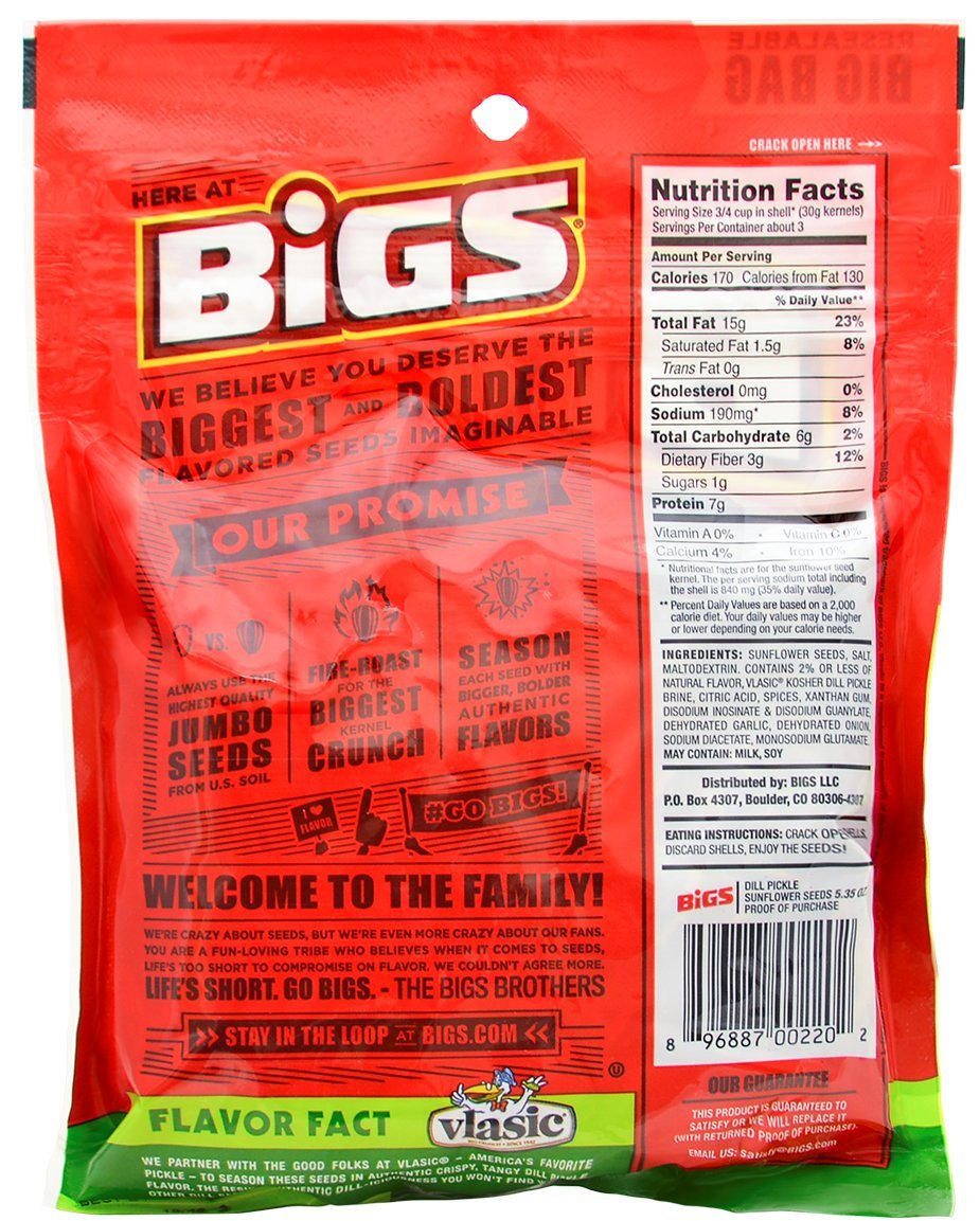 Bigs Sunflower Seed Flavor Variety Pack 9 bags (5.35oz each) with Bonus Magnet by BIGS (Image #5)