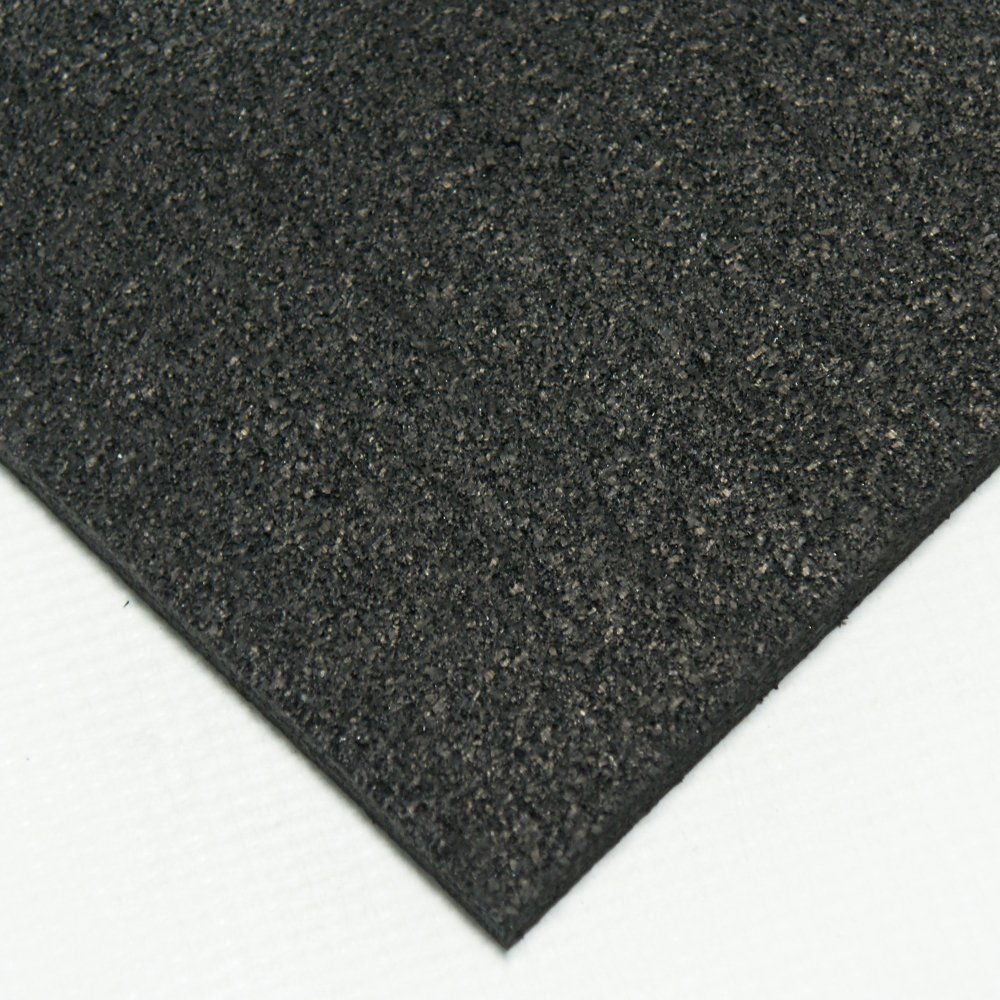 Rubber Sheets and Rolls 1//4 Thick x 4ft Width x 6ft Length 60A Rubber-Cal Recycled Rubber Black
