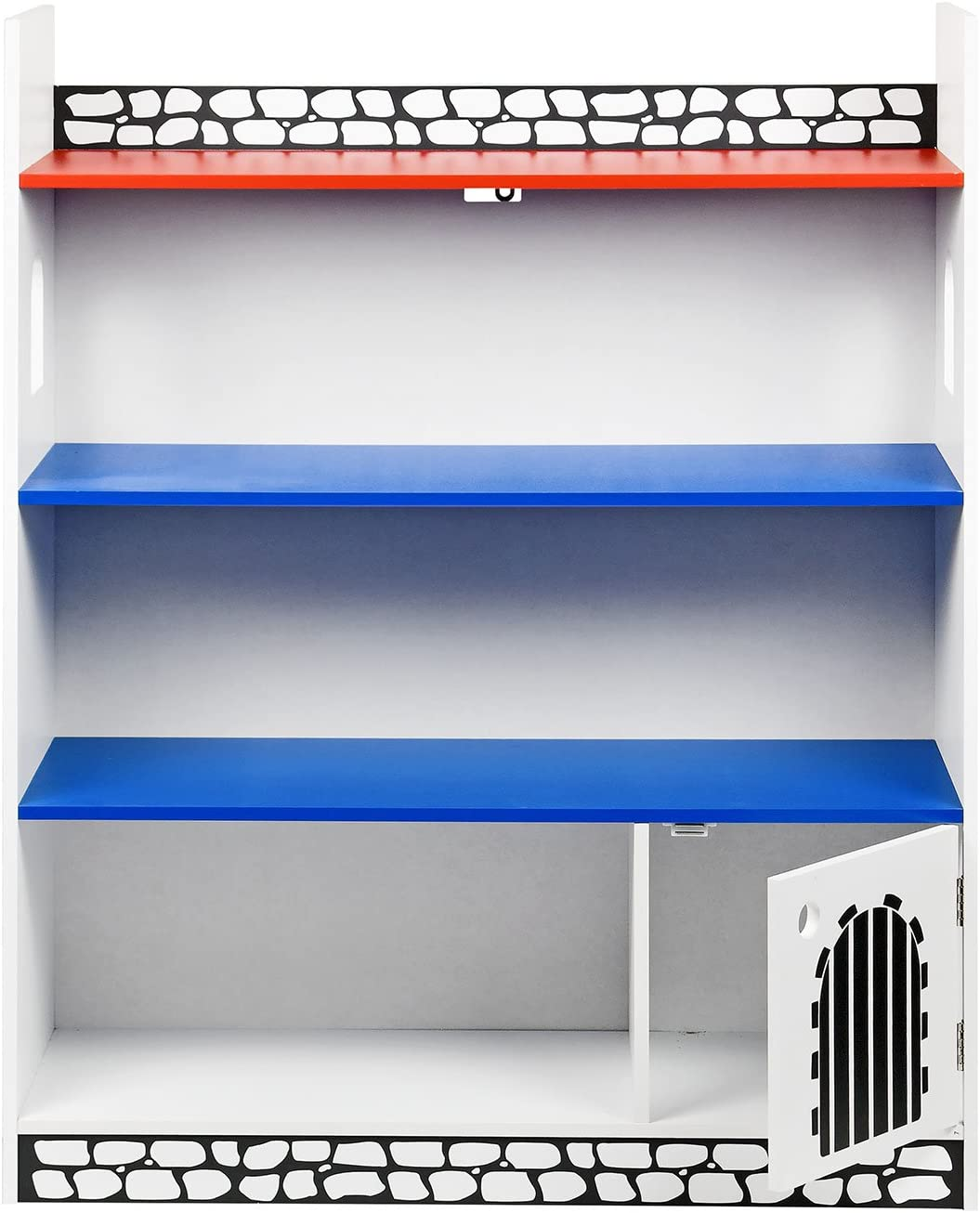 Taylor & Brown Children Kids Castle Book Shelf Bookcase Storage Display Shelving Unit Castle Bookshelf