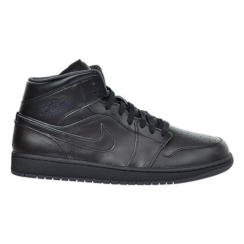15a900dec8ae Jordan Air 1 Mid Men s Shoes Black Dark Grey 554724-021 (11.5 D(M ...