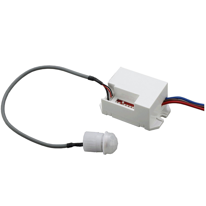 AGFRI 17051 Detector Movimiento para Control de Energía, Aplicaciones de Seguridad y Domótica, Blanco: Amazon.es: Bricolaje y herramientas