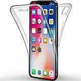"Coque iPhone X Etui , Leathlux Silicone Gel Case Avant et Arrière Intégral Full Protection Cover Transparent TPU Housse Anti-rayures pour Apple iPhone X/ iPhone 10 5.8"""