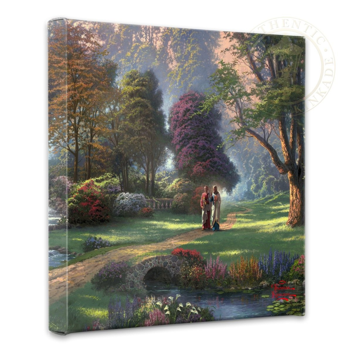 Thomas Kinkade - Walk of Faith  nature Canvas wall art