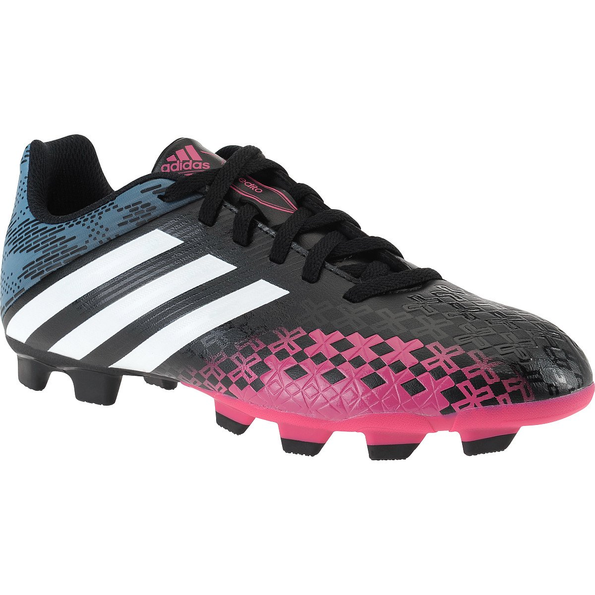 New Adidas Predito LZ TRX FG Black/Pink Ladies 10