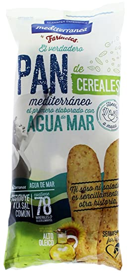 Palitos de pan de Cereales Mediterránea, bolsa de 90 gramos, elaborados con agua de
