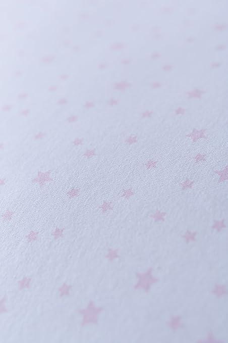 Clair de Lune capazo con colchón para (rosa, estrellas y ...