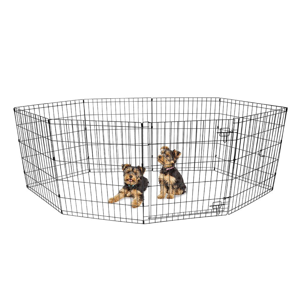 BV Pet 24'' H Foldable Exercise Pen/Dog Playpen, 8 Panels with Single Door