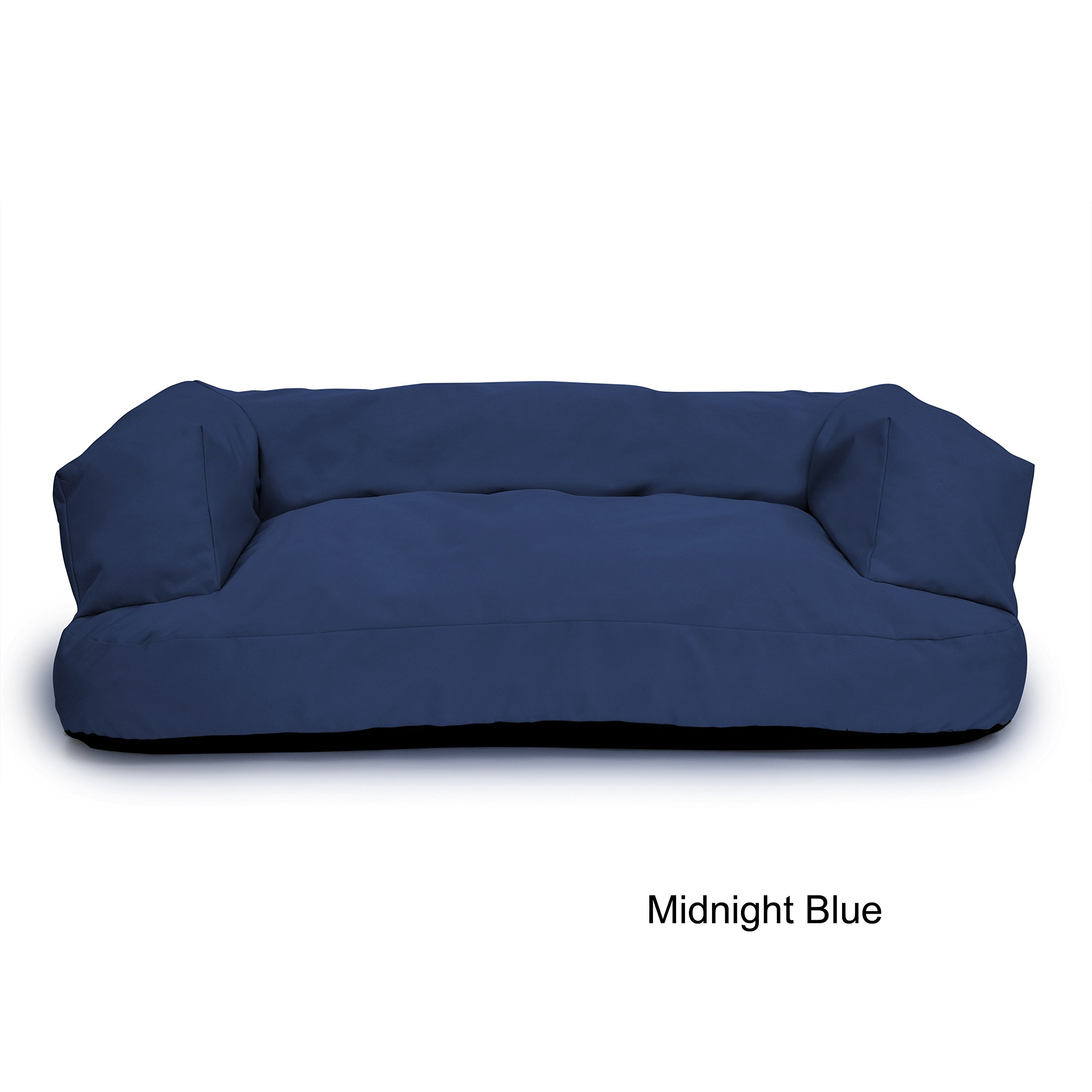 Integrity Bedding Indoor/Outdoor Chew-Resistant 6-inch Memory Foam Dog Couch and Bed Blue Extra Large