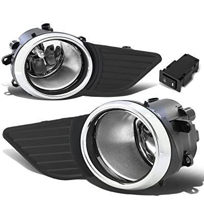 DNA Motoring FL-ZTL-221-CH Bumper Fog Lights w/Switch [For 11-17 Sienna]: Automotive