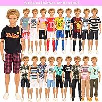 Miunana 5 Ropas Vestidos De Moda para Ken