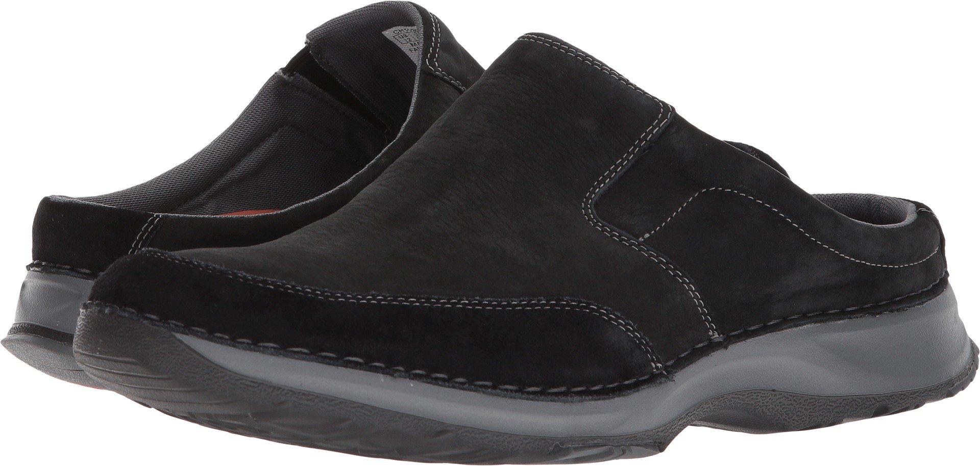 Rockport Men's RocSports Lite Five Clog Shoe, black leather, 15 W US