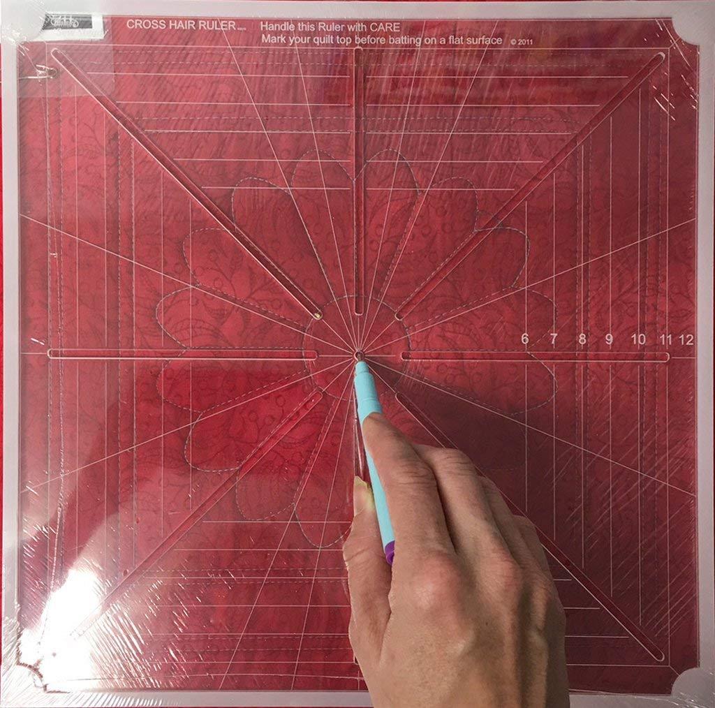 Westalee Design 8 Point Crosshair Ruler (8.5'' x 8.5'')