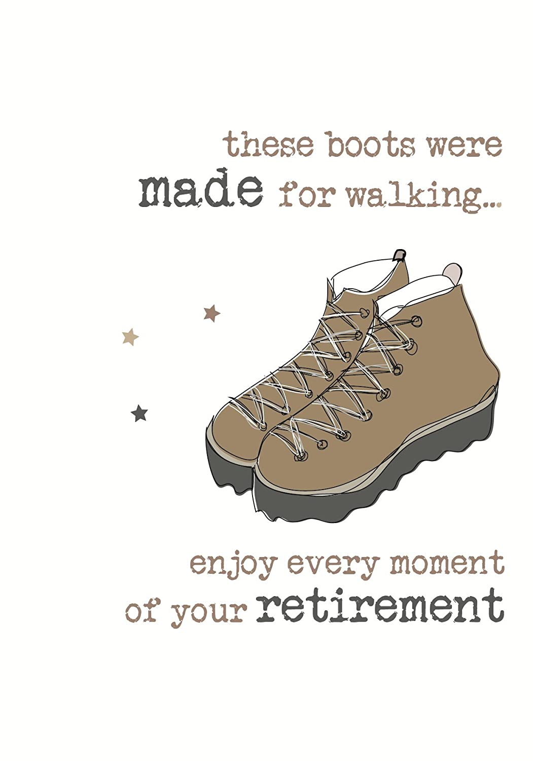 Retirement Sparkle Finished Greeting Card by Dandelion Stationery Cards