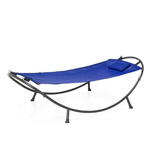 Air Hamac Hamac En Acier Et Textilène Bleu Foncé Bleu Marine